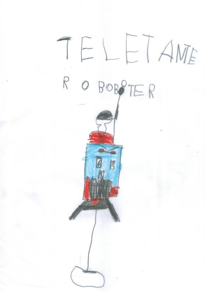 Teletante Roboter gemalt von Oskar