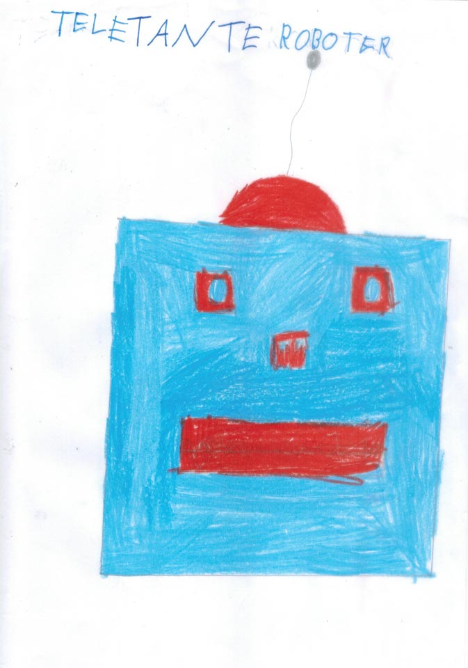 Teletante Roboter gemalt von Ian