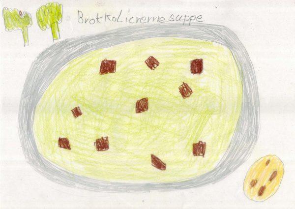 Brokkolicrèmesuppe mit Croûton