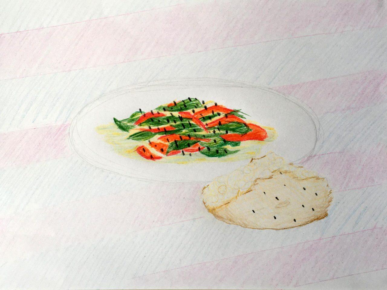 Fasulye Bohnen Tomate Schwarzkümmel