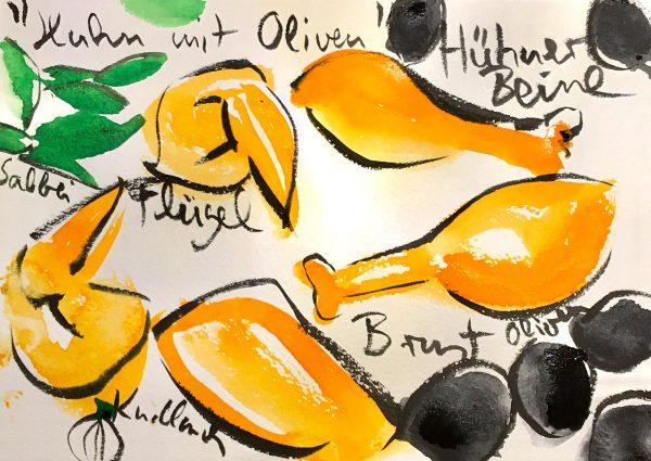 Huhn mit Oliven