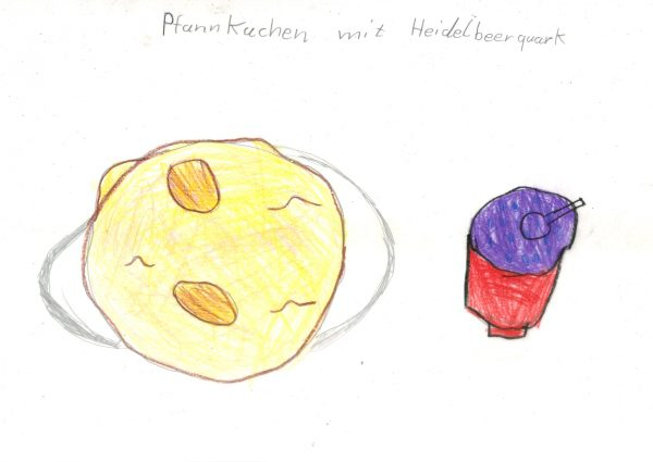Pfannkuchen mit Heidelbeerquark