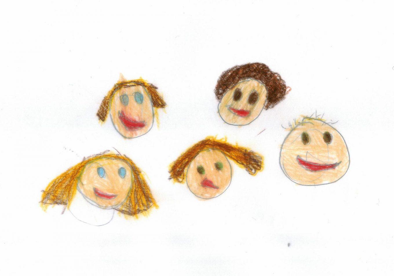 Klara und die Jungs, gemalt von Ian